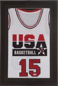 Basketball Collectibles:Uniforms, Magic Johnson Signed Dream Team I Jersey....