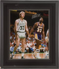 Basketball Collectibles:Photos, Magic Johnson Signed Oversized Photograph....