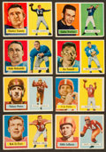 Football Cards:Lots, 1957 Topps Football Collection (30) With Unitas Rookie. ...