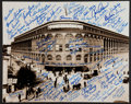 Baseball Collectibles:Photos, Ebbets Field Multi Signed Oversized Photograph Over 90 Including Koufax. ...