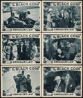 """Movie Posters:Serial, The Black Coin (Stage and Screen Productions, 1936). Lobby Cards (6) (11"""" X 14"""") Chapter 9 -- """"Smuggler's Lair."""" Serial.. ... (Total: 6 Items)"""