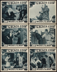 "The Black Coin (Stage and Screen Productions, 1936). Lobby Cards (6) (11"" X 14"") Chapter 5 -- ""Wolves of..."