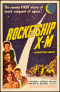 "Movie Posters:Science Fiction, Rocketship X-M (Lippert, 1950). One Sheet (27"" X 41""). Science Fiction.. ..."