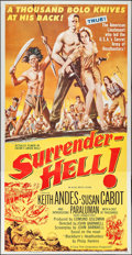 """Movie Posters:Adventure, Surrender - Hell! & Other Lot (Allied Artists, 1959). ThreeSheets (2) (41"""" X 79""""). Adventure.. ... (Total: 2 Items)"""