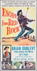 """Movie Posters:Western, Escape from Red Rock & Other Lot (20th Century Fox, 1957). Three Sheets (2) (41"""" X 76.5"""" & 41"""" X 79""""). Western.. ... (Total: 2 Items)"""