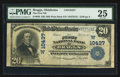 National Bank Notes:Oklahoma, Braggs, OK - $20 1902 Plain Back Fr. 656 The First NB Ch. # (W)10437. ...