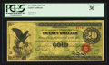 Large Size:Gold Certificates, Fr. 1166b $20 1863 Gold Certificate PCGS Very Fine 30.. ...
