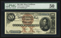Large Size:Silver Certificates, Fr. 310 $20 1880 Silver Certificate PMG About Uncirculated 50.. ...