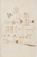Books:Americana & American History, Original 19th Century Cleverly Illustrated Poem. 4.5 x 7 inches.Brain teaser poem using a combination of illustrations and ...