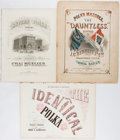 "Books:Music & Sheet Music, [Sheet Music]. 19th Century Polka Sheet Music. Various sizes. Includes the ""Revere Polka"", ""The Identical Polka"", and ""Polka..."