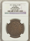 Bust Half Dollars, 1811 50C Small 8 -- Obv Scratched -- NGC Details. VF. O-105a. PCGSPopulation (9/410)....