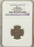 Bust Dimes, 1828 10C Small Date -- Obverse Scratched -- NGC Details. VF. JR-1. NGC Census: (2/36). PCGS Population (1/70). Mintage: 125...