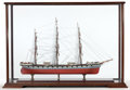 Maritime:Decorative Art, SCALE MODEL OF THE SCHOONER CRONDALE . American Marine and ShipModel Gallery, Salem, Massachusetts. 26.1/8 ...