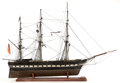Maritime:Decorative Art, A SAILOR'S SHIP MODEL OF THE FRIGATE SUPERBE. 37 x 44 x 8inches (94.0 x 111.8 x 20.3 cm). ...