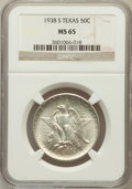Commemorative Silver: , 1938-S 50C Texas MS65 NGC. NGC Census: (311/354). PCGS Population(426/339). Mintage: 3,814. Numismedia Wsl. Price for prob...