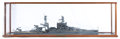 Maritime:Decorative Art, ROBERT MOUAT SCALE SEALINE MODEL OF THE USS ARIZONA . AmericanMarine Model Gallery, Salem, Massachusetts. 14-1/2 x 56-3/4 x...