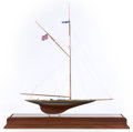 Maritime:Decorative Art, SCALE MODEL OF THE AMERICA'S CUP YACHT SHAMROCK III . 30 x 29 x 9inches (76.2 x 73.7 x 22.9 cm). ...