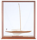 Maritime:Decorative Art, ROB WADLEIGH SCALE MODEL OF THE RACING YACHT ORIOLE . 27-1/2 x 9 x8 inches (69.9 x 22.9 x 20.3 cm). ...