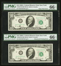 Error Notes:Major Errors, Fr. 2019-B $10 1969A Federal Reserve Note. PMG Gem Uncirculated 66EPQ.. ...