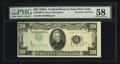 Error Notes:Inverted Third Printings, Fr. 2060-B $20 1950A Federal Reserve Note. PMG Choice About Unc58.. ...