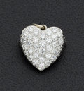 Estate Jewelry:Pendants and Lockets, Diamond & Gold Heart Pendant/Brooch. ...
