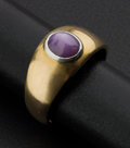 Estate Jewelry:Rings, Star Ruby Gold Ring. ...