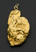 Estate Jewelry:Pendants and Lockets, Large Natural Gold Nugget Pendant. ...