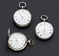 Timepieces:Pocket (pre 1900) , Three Lever Fusee Watches. ... (Total: 3 Items)