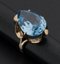 Estate Jewelry:Rings, Blue Spinel Gold Ring. ...