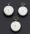 Timepieces:Pocket (pre 1900) , Two Lever & One Verge Fusee Watches. ... (Total: 3 Items)