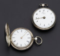Timepieces:Pocket (pre 1900) , Two Running Verge Fusee's. ... (Total: 2 Items)