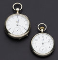 Timepieces:Pocket (post 1900), Trenton & Illinois Pocket Watches Runners. ... (Total: 2 Items)