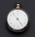 Timepieces:Pocket (pre 1900) , Large Verge Fusee Silver Pain Case by Milden (Liverpool). ...