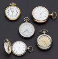 Timepieces:Pocket (post 1900), A Lot Of Five Pocket Watches For Repair. ... (Total: 5 Items)