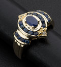 Estate Jewelry:Rings, Multi-Stone Blue Sapphire Ring. ...