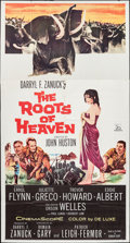 """Movie Posters:Adventure, The Roots of Heaven & Other Lot (20th Century Fox, 1958). ThreeSheet (41"""" X 78.5"""") & Partial Three Sheet (41"""" X 54""""). Adven...(Total: 2 Items)"""