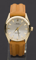 Timepieces:Wristwatch, Rolex Ref. 1005 Gent's Vintage 14k Gold Oyster Perpetual. ...