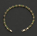Estate Jewelry:Bracelets, Gold & Green Tourmaline Bracelet. ...