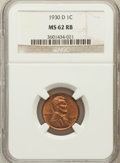Lincoln Cents: , 1930-D 1C MS62 Red and Brown NGC. NGC Census: (2/306). PCGSPopulation (1/123). Mintage: 40,100,000. Numismedia Wsl. Price ...