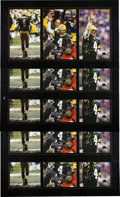 Football Collectibles:Photos, 2007 Brett Favre Signed Oversized Photograph Collage Prints Lot of 5. ...