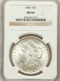 Morgan Dollars: , 1884 $1 MS64 NGC. NGC Census: (6550/2150). PCGS Population(5278/2480). Mintage: 14,070,875. Numismedia Wsl. Price for prob...
