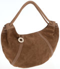 Luxury Accessories:Bags, Fratelli Rosetti Tan Leather and Suede Hobo Shoulder Bag. ...