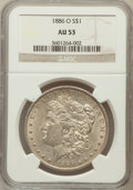 Morgan Dollars: , 1886-O $1 AU53 NGC. NGC Census: (416/3520). PCGS Population(353/3540). Mintage: 10,710,000. Numismedia Wsl. Price for prob...