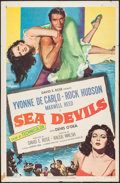 "Movie Posters:Adventure, Sea Devils (RKO, 1953). One Sheet (27"" X 41""). Adventure.. ..."