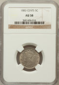 Liberty Nickels: , 1883 5C With Cents AU58 NGC. NGC Census: (50/770). PCGS Population(125/928). Mintage: 16,032,983. Numismedia Wsl. Price fo...