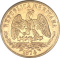 Mexico, Mexico: Republic gold 20 Pesos 1874 Go-S,...