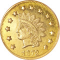 California Fractional Gold, 1872 $1 Indian Round 1 Dollar, BG-1207, R.4, MS63 Prooflike NGC....