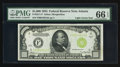 Small Size:Federal Reserve Notes, Fr. 2211-F $1000 1934 Light Green Seal Federal Reserve Note. PMG Gem Uncirculated 66 EPQ.. ...
