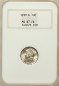 Mercury Dimes: , 1939-D 10C MS67 Full Bands NGC. NGC Census: (439/31). PCGSPopulation (517/86). Mintage: 24,394,000. Numismedia Wsl. Price ...
