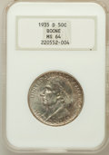 Commemorative Silver: , 1935-D 50C Boone MS64 NGC. NGC Census: (242/326). PCGS Population(418/417). Mintage: 5,005. Numismedia Wsl. Price for prob...